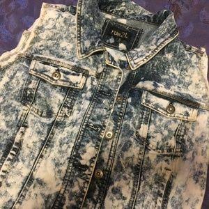 Rockin' Acid-Wash Jeans Vest